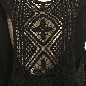 Tops - 🔴🔴🔴DONATING 2/15: Black crochet tank top